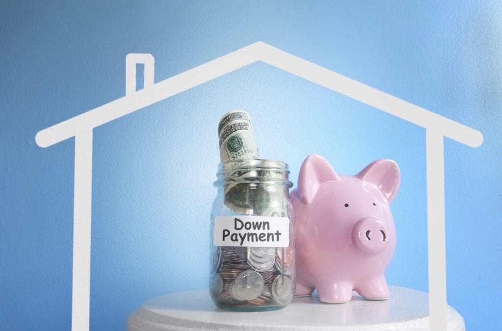 Piggy Bank By Down Payment Jar