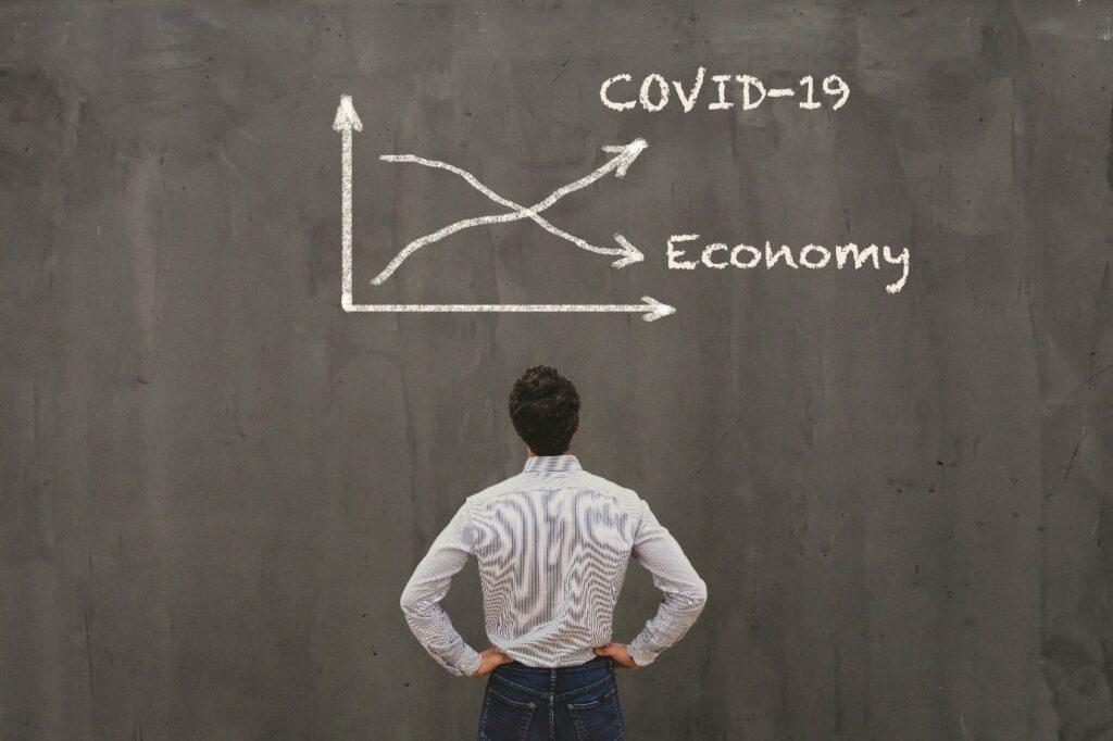 econimical crisis concept due to coronavirus COVID-19 spread in the world